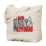 I Wear Grey For My Boyfriend 6 Tote Bag