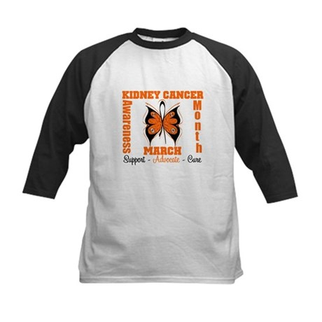 Kidney Cancer Month Kids Baseball Jersey