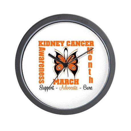 Kidney Cancer Month Wall Clock