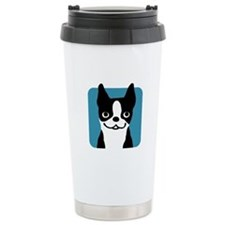 Boston Terrier Smile Ceramic Travel Mug