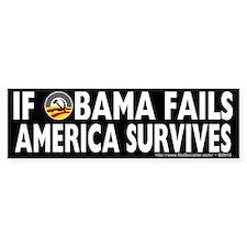 Anti-Obama Obama Fails America Survives Bumper Sticker