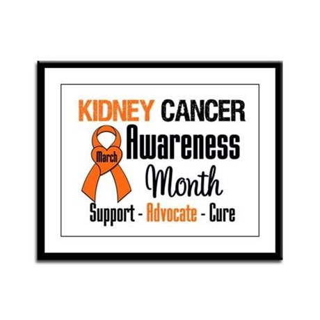KidneyCancerAwarenessMonth Framed Panel Print