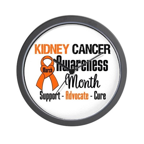 KidneyCancerAwarenessMonth Wall Clock