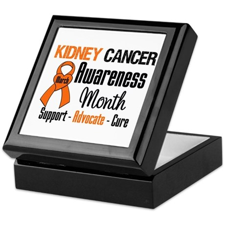 KidneyCancerAwarenessMonth Keepsake Box