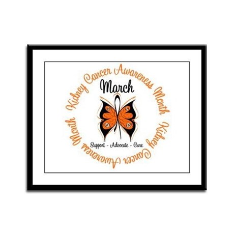 KidneyCancer Month Framed Panel Print