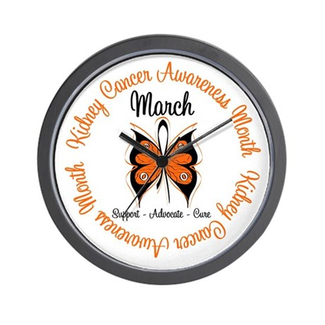 KidneyCancer Month Wall Clock