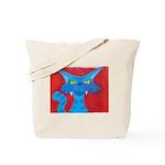 Blue Cat Pastel Tote Bag