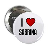 "I LOVE SABRINA 2.25"" Button (100 pack)"