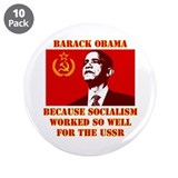 "Unique Socialism 3.5"" Button (10 pack)"