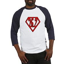 Superman the Runner Baseball Jersey