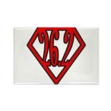 Superman the Runner Rectangle Magnet