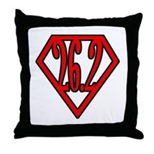 Superman the Runner Throw Pillow