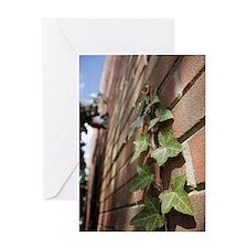 Cute Bricks and ivy Greeting Card