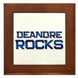 deandre rocks Framed Tile