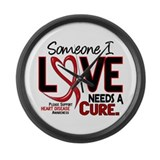 Needs A Cure Heart Disease Large Wall Clock