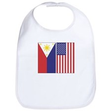 Philippine and US Flags Snap Bib