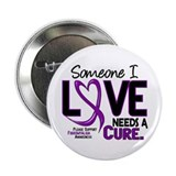 "Needs A Cure Fibromyalgia 2.25"" Button"