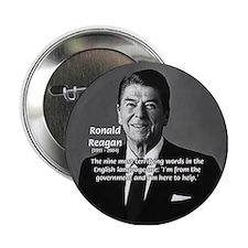 American President Reagan Button
