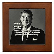American President Reagan Framed Tile