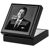 American President Reagan Keepsake Box