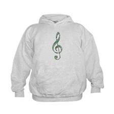 Green Notes Treble Clef Hoody
