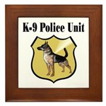 K9 Police Framed Tile
