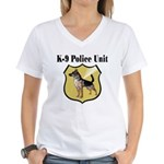 K9 Police Women's V-Neck T-Shirt