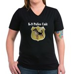 K9 Police Women's V-Neck Dark T-Shirt