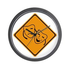 Comedy Tragedy Ahead Wall Clock