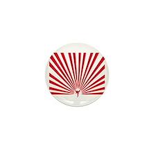 Karate Kick It Red Mini Button