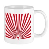 Karate Kick It Red Small Mug