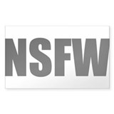 NSFW Rectangle Sticker 50 pk)