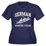 German Rowing Women's Plus Size V-Neck Dark T-Shir