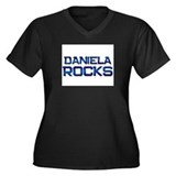 daniela rocks Women's Plus Size V-Neck Dark T-Shir