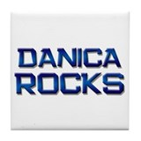danica rocks Tile Coaster