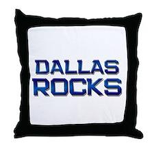 dallas rocks Throw Pillow