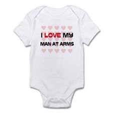 I Love My Man At Arms Infant Bodysuit