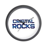cristal rocks Wall Clock