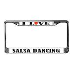 I Love Salsa Dancing License Plate Frame