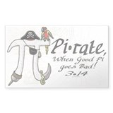 Pirate Pi Day Decal