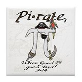 Pirate Pi Day Tile Coaster