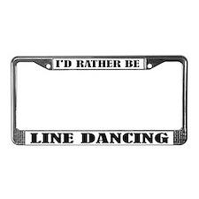 Line Dancing License Plate Frame