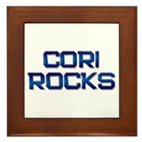 cori rocks Framed Tile