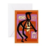 Abstract Jazz Player Greeting Card