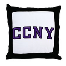 CCNY Beaver Throw Pillow