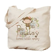 Paisley..Sweet little monkey Tote Bag