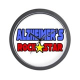 &quot;Alzheimer's Rock Star&quot; Wall Clock