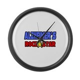 """Alzheimer's Rock Star"" Large Wall Clock"