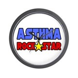 &quot;Asthma Rock Star&quot; Wall Clock