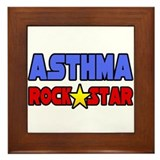 """Asthma Rock Star"" Framed Tile"